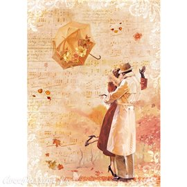 Papier de riz Ciao autumn kisses in the wind 22x32cm