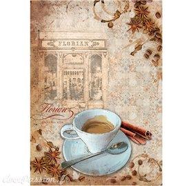 Papier de riz Ciao Bella café florian 22x32cm