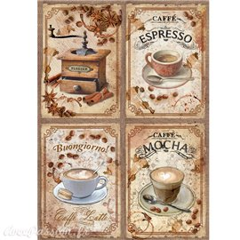 Papier de riz Ciao Bella café espresso 22x32cm