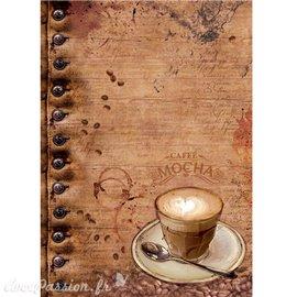Papier de riz Ciao Bella café moka 22x32cm
