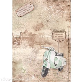 Papier de riz Ciao Bella welcome to rome 22x32cm