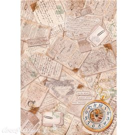 Papier de riz Ciao Bella travel memories 22x32cm