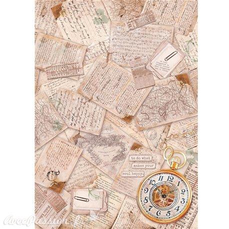 Papier de riz Ciao Bella travel memories 22x32cm
