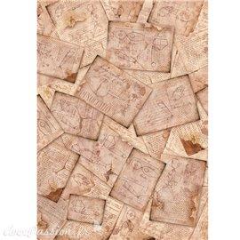 Papier de riz Ciao Bella pinocchio il tavolo di geppetto 22x32cm