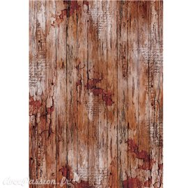 Papier de riz Ciao Bella woodland old time wood 22x32cm