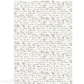 Papier de riz Renkalik scrittura 31x45cm