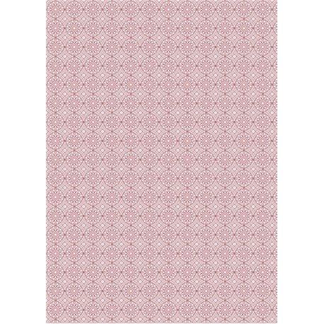 Papier de riz Renkalik arabesques rose 47x65cm
