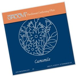 Groovi gabarit traçage parchemin fleurs camomille