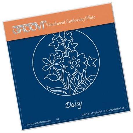 Groovi gabarit traçage parchemin fleurs marguerite