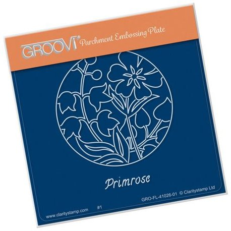 Groovi gabarit traçage parchemin fleurs primevère
