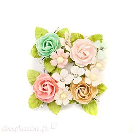 Fleurs Prima en tissu misty rose paxton Embellissement