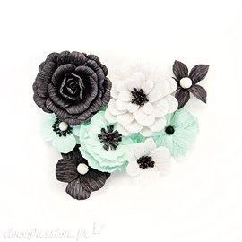 Fleurs Prima en papier flirty perfect day Embellissement 8p