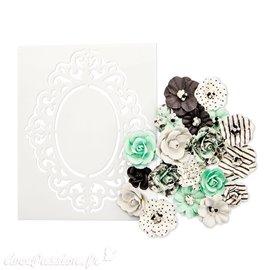 Fleurs Prima en papier flirty sprinkles Embellissement 20p