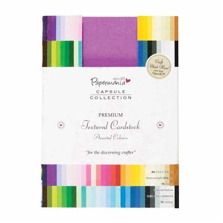 Papier scrapbooking format A6 assortiment papermania 75 couleurs