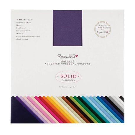 Papier scrapbooking assortiment papermania 75 couleurs 30x30