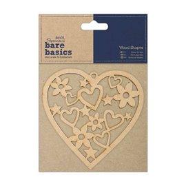 Chipboard coeur en bois papermania 1p