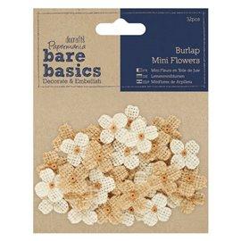 Fleurs en tissu naturelles Papermania Embellissement 32p