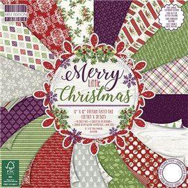 Papier scrapbooking assortiment noël merry christmas 48fe 30x30