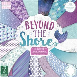 Papier scrapbooking assortiment beyond the shore bloc 48fe 30x30