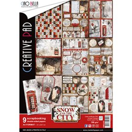 Papier scrapbooking A4 assortiment snow and the city 9fe