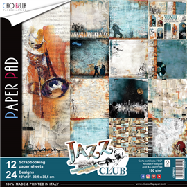 Papier scrapbooking assortiment jazz club 12fe 30x30