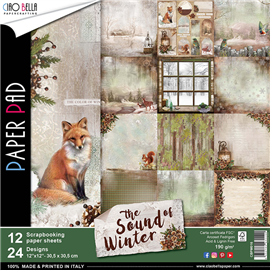 Papier scrapbooking assortiment the sound of winter 12fe 30x30