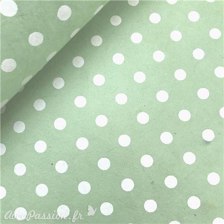 Papier népalais lokta bulles vert et blanc