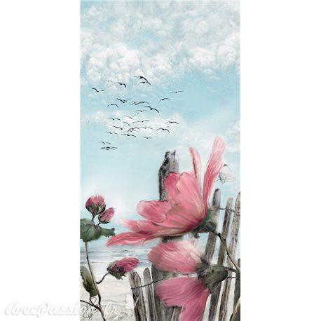 Carte d'art Valie Le Boeuf Rose Trémière
