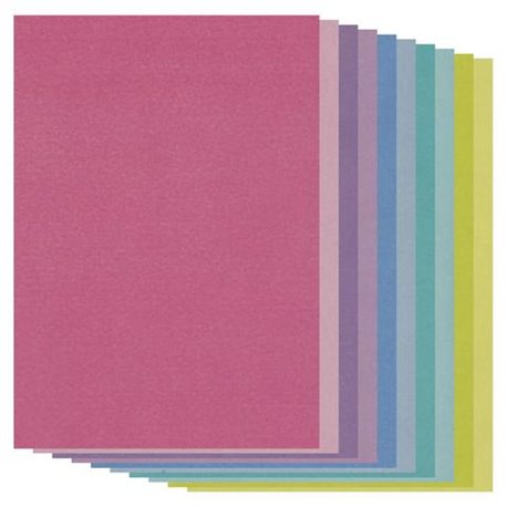 Pergamano paquet papier parchemin multicolore 40193 Groovi 20 feuilles