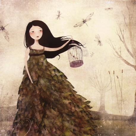 Carte postale Anne Julie Aubry l'envol des libellules