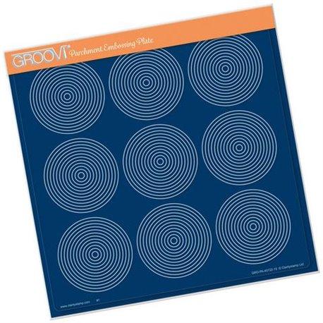 Groovi gabarit traçage parchemin cercles
