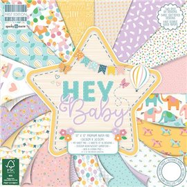 Papier scrapbooking assortiment naissance It's a girl bloc 48fe 30x30