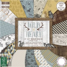 Papier scrapbooking assortiment wild at heart bloc 48fe 30x30
