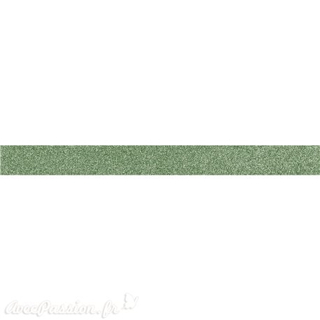 Masking tape glitter paillette vert rouleau