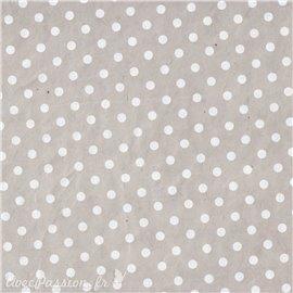 Papier népalais lokta bulles gris souris et blanc