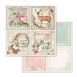 Papier scrapbooking réversible garden cards 30x30