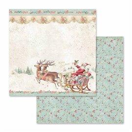 Papier scrapbooking réversible pink christmas 30x30
