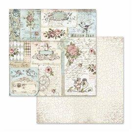 Papier scrapbooking réversible roses and angels 30x30