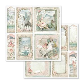 Papier scrapbooking réversible unicorn cards 30x30
