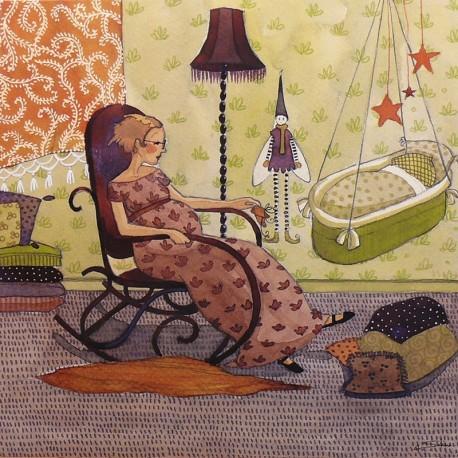 Carte postale Anne Soline marie prune