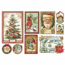 Papier de riz joyeux noël a merry christmas Stamperia