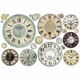 Papier de riz horloge Stamperia
