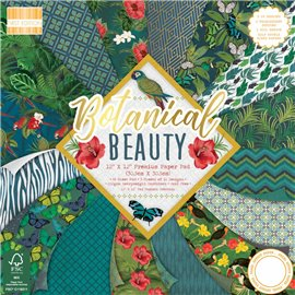 Papier scrapbooking assortiment botanical beauty 48fe 30x30