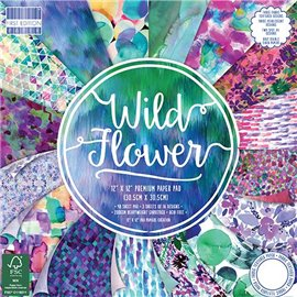 Papier scrapbooking assortiment wild flower 48fe 30x30