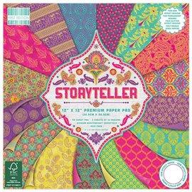 Papier scrapbooking assortiment storyteller bloc 48fe 30x30