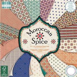 Papier scrapbooking assortiment moroccan spice bloc 48fe 30x30