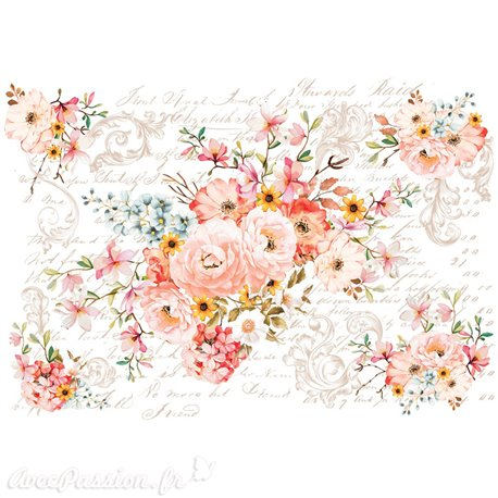 Transfert pelliculable Redesign Prima marketing décor Rose Celebration
