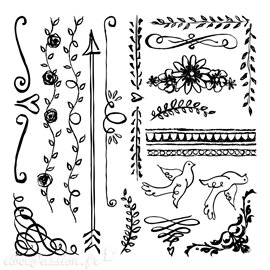 Tampons IOD Clear Stamps Expressions