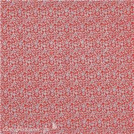 Papier népalais lokta astra rouge imprimé argent