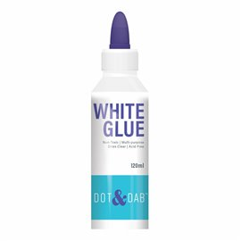 Colle vinylique blanche Dot & Dab flacon pointe très fine 120ml